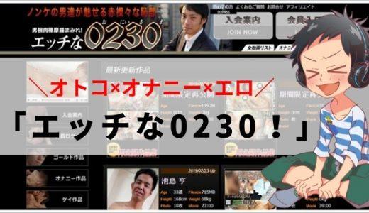 【無修正オナニーに特化】ゲイサイト「エッチな0230」で巨根を堪能しようぜ!!